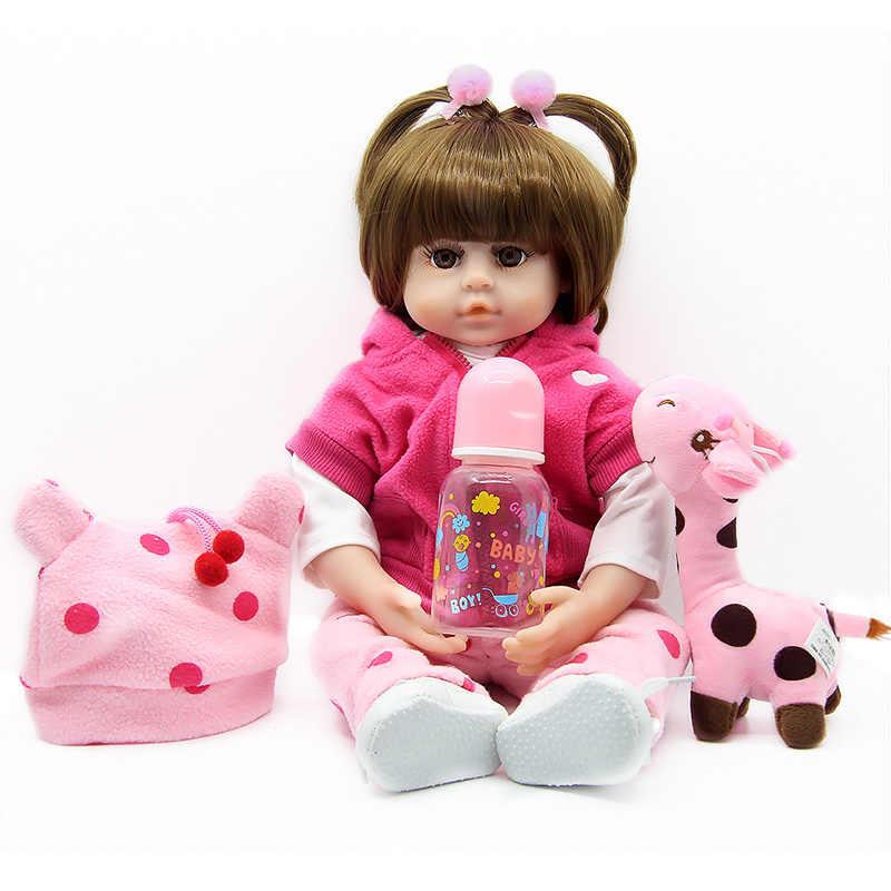 دمى السيليكون تولد من جديد 47 سنتيمتر طفل على قيد الحياة واقعية واقعية فتاة حقيقية دمية طفل لول عيد الميلاد عيد الميلاد اللعب لعب للأطفال