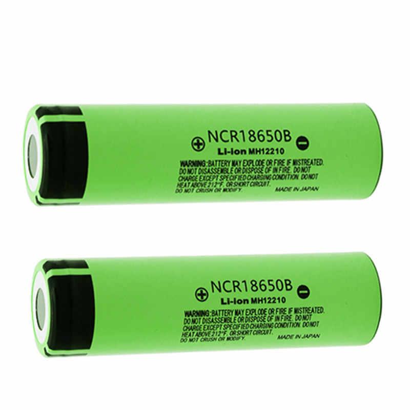 パナソニックオリジナル 18650 リチウムバッテリー NCR18650B 3400mAh 大容量充電式バッテリー 3.7 用懐中電灯電源ツール