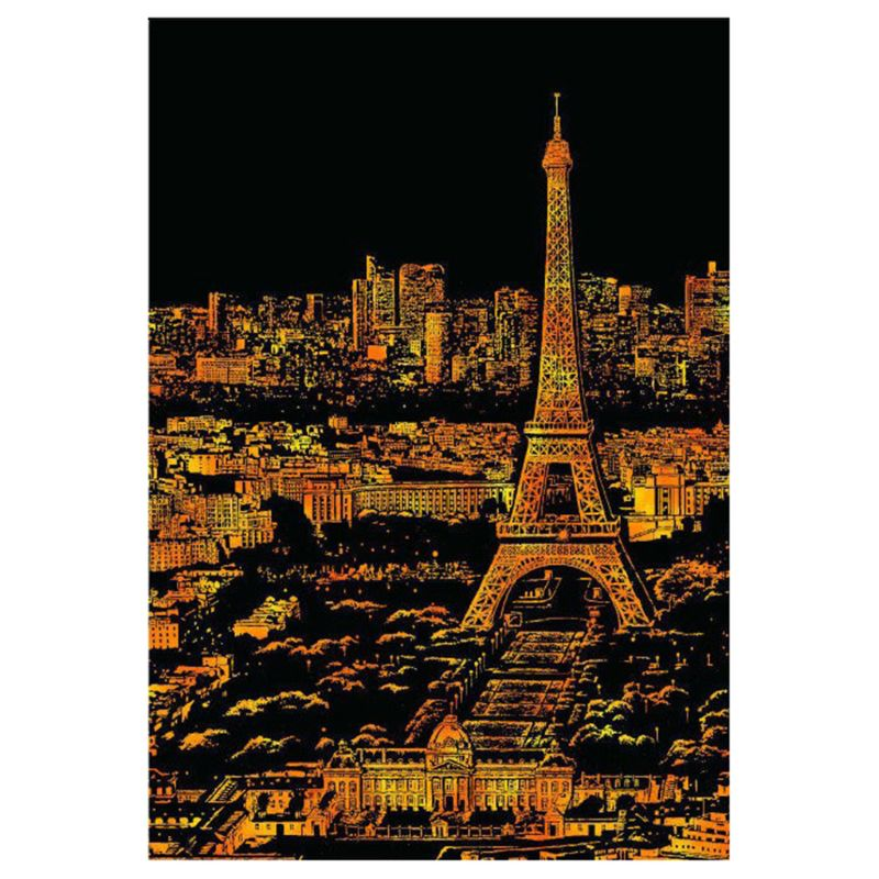 Creative Color Postcard Scraping Night Scenes Scratching Classical World Fashion City Sign Greeting Cards