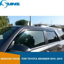 Deflectorsหน้าต่างด้านข้างสำหรับToyota 4Runner 2010 2011 2012 2013 2014 2015ลมโล่หน้าต่างVisor Sun Rain Deflector guards SUNZ