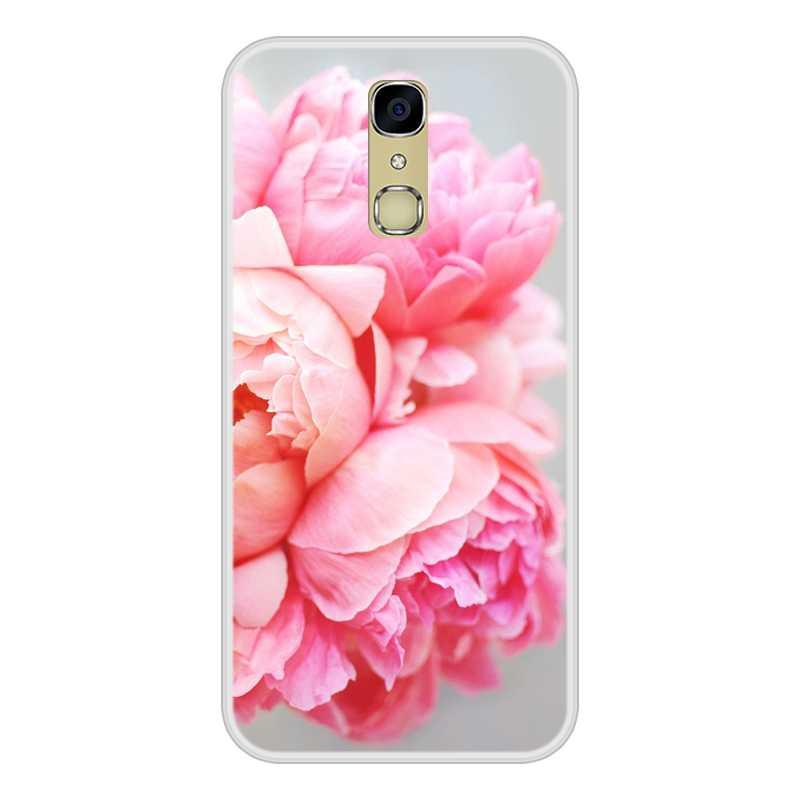 Coque pour Cubot X18 Silicone souple TPU fleur florale à motifs couverture d'impression pour coque de téléphone Cubot X18