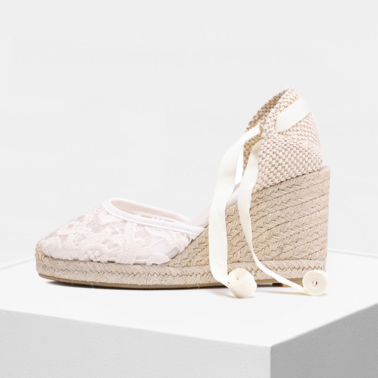 2019 spring summber High heel 90mm women shoes high heeled Canvas lady shoes casual wedge espadrilles