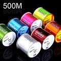 Высокое качество многоцветные 500 м супер сильная леска Япония мононити нейлоновая леска 2-35LB