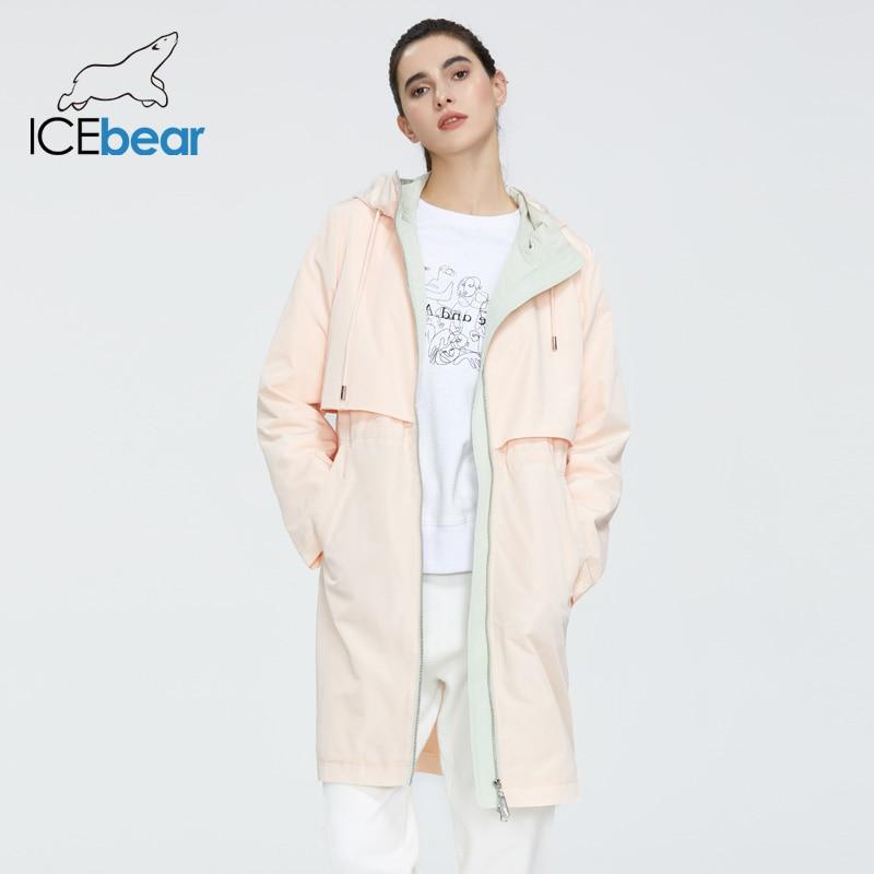 Женский весенний Тренч ICEbear, модная Повседневная ветровка высокого качества, модель GWF20130I, 2020