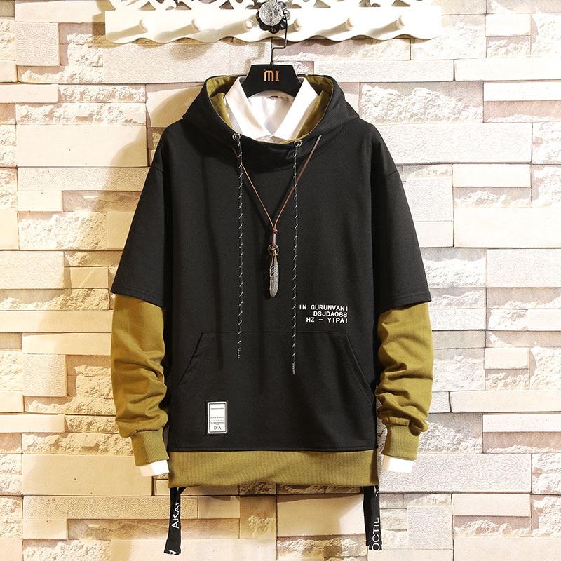 2019 AUTUMN Spring Fashion High Quality Print Sweatshirt Men Hip Hop Long Sleeve Pullover Hoodies Sweatshirt Clothes