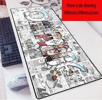Alfombrilla de ratón con cierre grande de Anime de una pieza, alfombrilla de ratón para ordenador de 80x30cm, alfombrillas para ratón y teclado de portátil para juegos, alfombrillas Dropship
