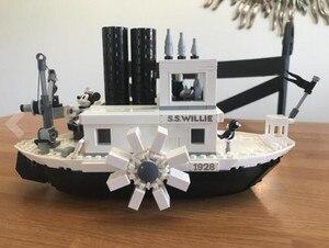 Image 4 - 2019 nuevas Ideas barco de vapor Willie película 21317 bloques de construcción ladrillos juguetes para niños regalos modelo niños regalo de Navidad