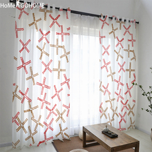 Boho Sheer Curtain Tulle Door Window Curtain Drape Panel Sheer Valances Modern Bedroom Living Room Curtains 3D Print Decoration sheer panel rolled cuff shirt