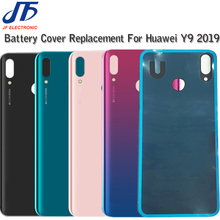 5Pcs Back Battery Plastic Housing Replacement For Huawei Y9 2019 / Enjoy 9 Plus Back Cover Case Rear Door with adhesive