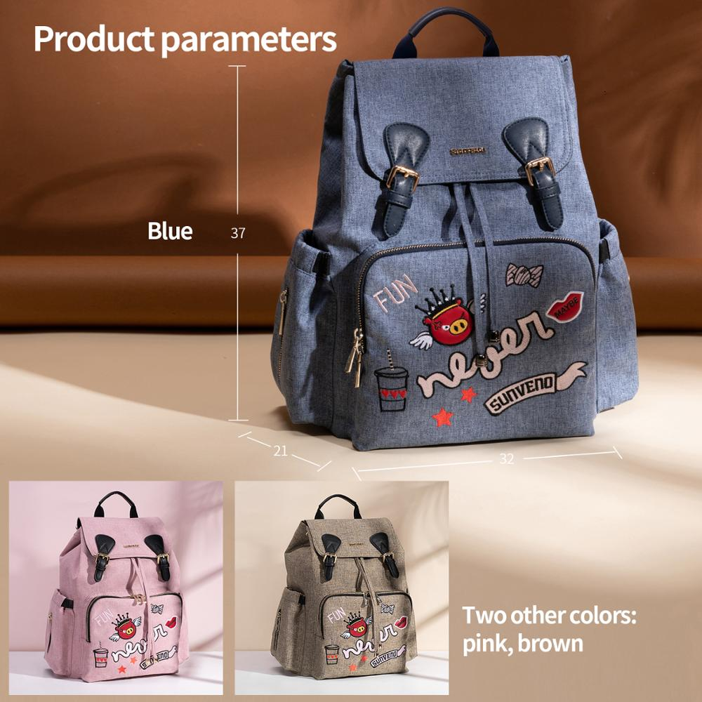Sunveno Fashion Mummy Maternity Nappy Bag Brand Baby Bag Backpack Diaper Bag Nursing Bag for Baby Care