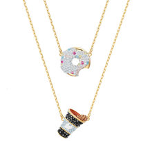 Quality swa-in-one swa, sparkling crystal necklace(China)