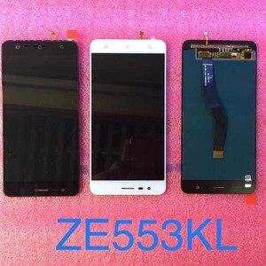 Image 2 - Orijinal test Asus ZenFone 3 Zoom için ZE553KL Z01HD LCD ekran dokunmatik ekran Digitizer meclisi için çerçeve ile Asus ZE553KL LCD