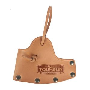Image 3 - Tourbon 사냥 도끼 도끼 블레이드 커버 도끼 머리 칼집 케이스 벨트 홀스터 정품 가죽 액세서리 12*8.5CM (도끼 포함하지 않음)