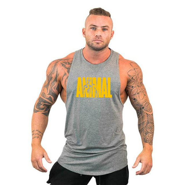 New Gyms Tank Top Summer Brand Cotton Sleeveless Shirt Casual Fashion Fitness Stringer Tank Top Men bodybuilding Clothing M-XXL 5