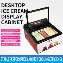 220vcommercial ice cream comercial sobremesa freezer desktop sorvete congelado float armário de exibição personalizada congelador comercial
