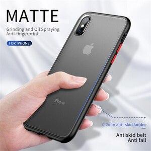 Image 4 - Stoßfest Transparente Hybrid Silicon Telefon Fall Für iPhone 12 Mini 11 Pro Max X XS XR Max 8 7 6 S Plus SE Klar weiche Rückseitige Abdeckung