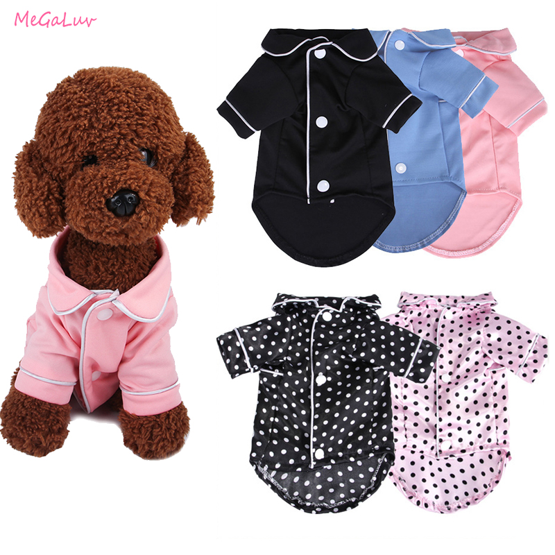 All Seasons Indoor Pets Soft Dogs Nightwear Shirt Puppy Jumpsuit Pajamas Costume Pet Clothing Coat Bathrobe Nightgown Sleepwear