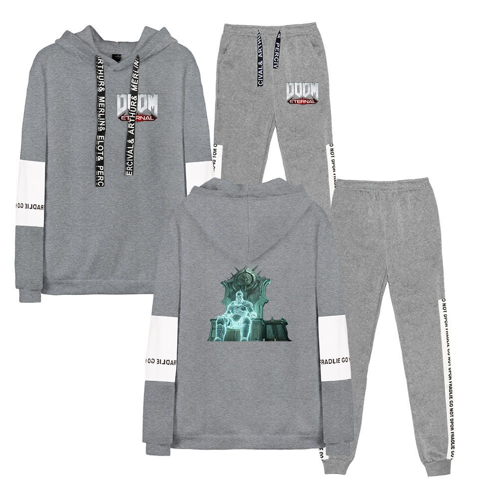 Hot Sales Hot Selling Doom Eternal Doom Eternal Casual Loose-Fit Sports Joint Hoodie Suit