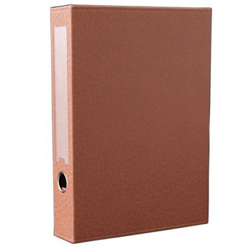 AAY-A4 Pu Leather File Folder Document Paper Box Organizer Document Organizer Desktop Organizer