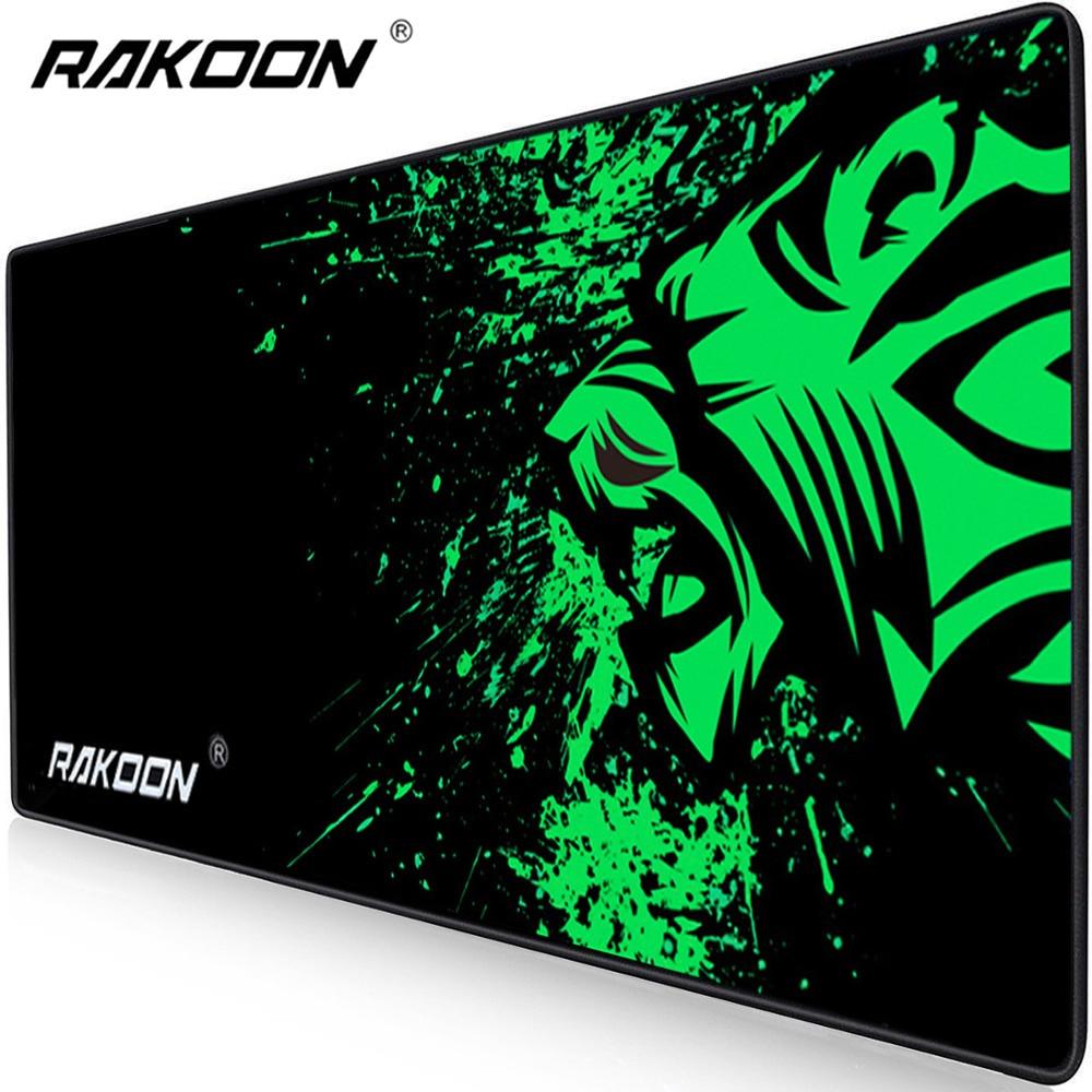 Rakoon extra grande mouse pad grande computador gaming mousepad anti-deslizamento de borracha natural com bloqueio borda gaming mouse esteira
