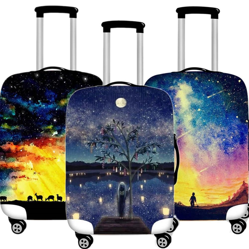 Fashion Luggage Cover Protective Case Waterproof Thicken Elastic Creative Suitcase Cover Apply 18-32 Inch XL Travel Accessorie