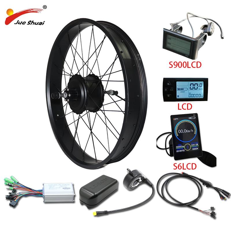 26 Дюймов 4,0 толстых шин Электрический велосипед комплект 48 в 1000 Вт мощное электрическое колесо Задняя Ступица мотор ebike комплект для переоборудования электрического велосипеда e велосипед
