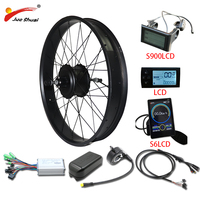 26inch 4.0 Fat Tire Electric Bike Kit 48V 1000W Powerful Electric Wheel Rear Hub Motor ebike Electric Bike Conversion Kit e bike