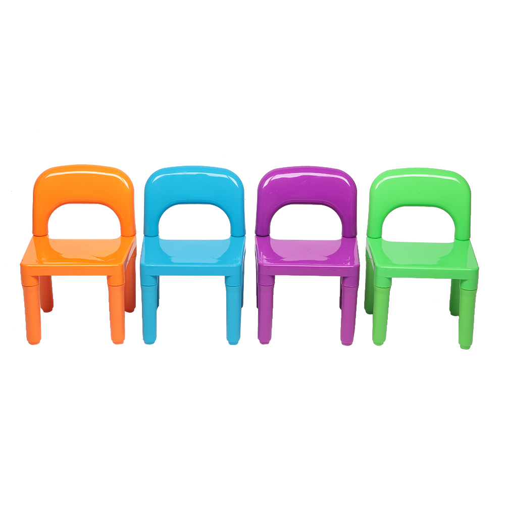 Plastic Kids Table With 4 Chairs Set For Boys Girls Toddler Reading Writing HUG-Deals