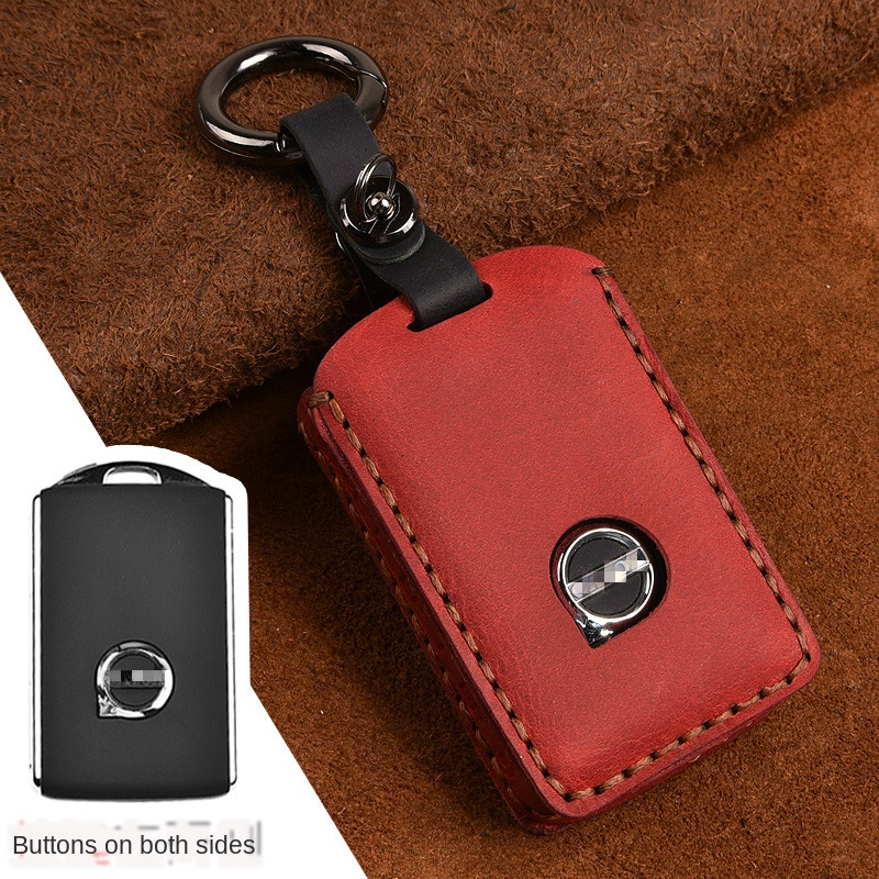 High quality Smart Car key Wallet Case for volvo s90 2017 S90L t5 t6 2015 2016 t8 2017 XC60 2018 keyfob Fits perfect Car styling