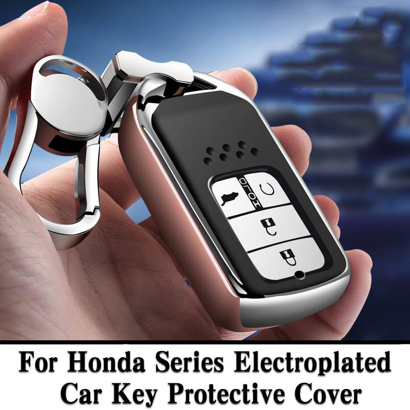 Hight quality TPU+ABS Car Key Cover Case for Honda Civic Accord Cr v Pilot 2015 2016 2017 2018 Buttons Remote Intelligence Key-in Key Case for Car from Automobiles & Motorcycles