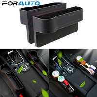 Caja de almacenamiento para hueco de asiento de coche lado del conductor del pasajero, par Universal, izquierda/derecha, para Organizador de bolsillo, soportes para teléfono, color negro