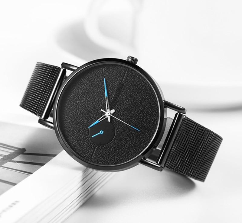 H104e55cd1fd946eca19d0aa53480440b2 DONROSIN Men Casual Slim Black Mesh Steel Wrist Sport Watch Fashion Mens Watches Top Brand Luxury Quartz Watch Relogio Masculino