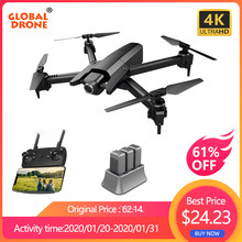 Global Drone 4K Drone Quadrocopter Dron Vliegen Lange Tijd Rc Helicopter Selfie Drones Met Camera Hd Vs SG901 SG106 SG706 E58 E520(China)