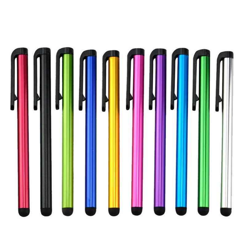 Klip tasarım evrensel yumuşak kafa için tablet telefon dayanıklı Stylus kalem kapasitif kalem dokunmatik ekran kalemi