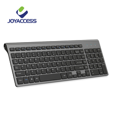 JOYACCESS Spanish/Italian/German/French/Russian Keyboard Wireless with Multimedia Keys Ergonomic keyboard for Notebook Laptop PC