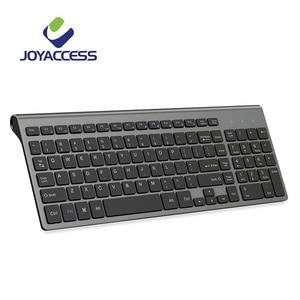 Image 1 - JOYACCESS Spanish/Italian/German/French/Russian Keyboard Wireless with Multimedia Keys Ergonomic keyboard for Notebook Laptop PC