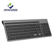 JOYACCESS teclado inalámbrico español/italiano/alemán/francés/ruso con teclas Multimedia, teclado ergonómico para Notebook, portátil y PC