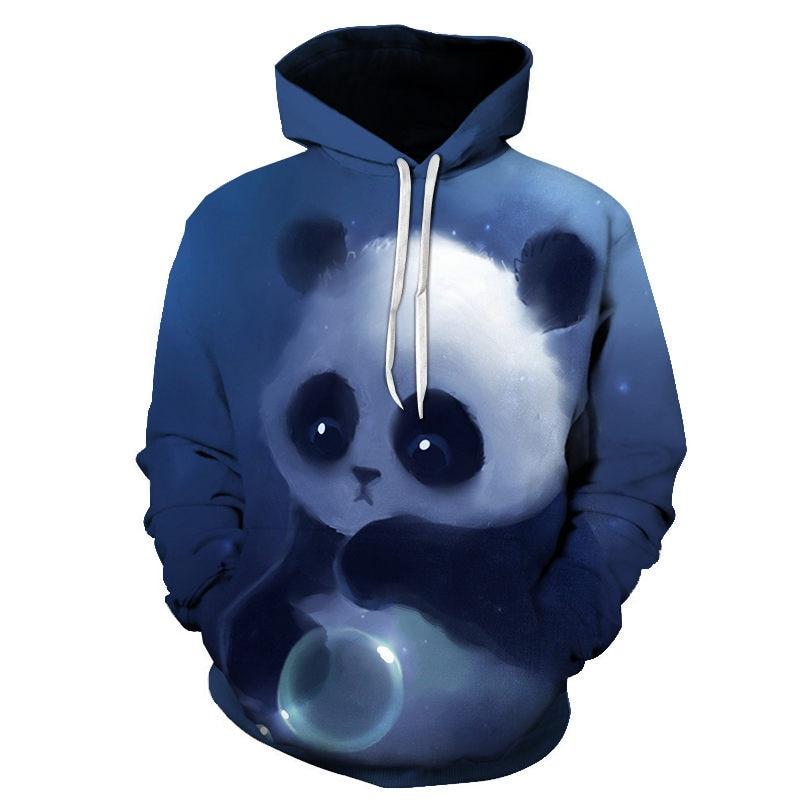 Women Harajuku Sweatshirt Girl Kawaii 3D Animal Print Sweatshirt Lovely Panda Cat Lion Hoodie Pullover Women Sweatshirt 6XL