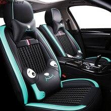 купить car believe car seat cover For skoda kodiaq rapid spaceback octavia 2012 fabia 2 felicia karoq accessories seat covers по цене 8447.76 рублей