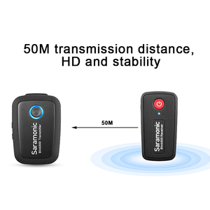Image 2 - ميكروفون لاسلكي من Boya Saramonic Blink 500 Blink500 B1 B2 B3/4/5 بميكروفون قابل للتحدث مع استوديو مكثف للهواتف DSLR