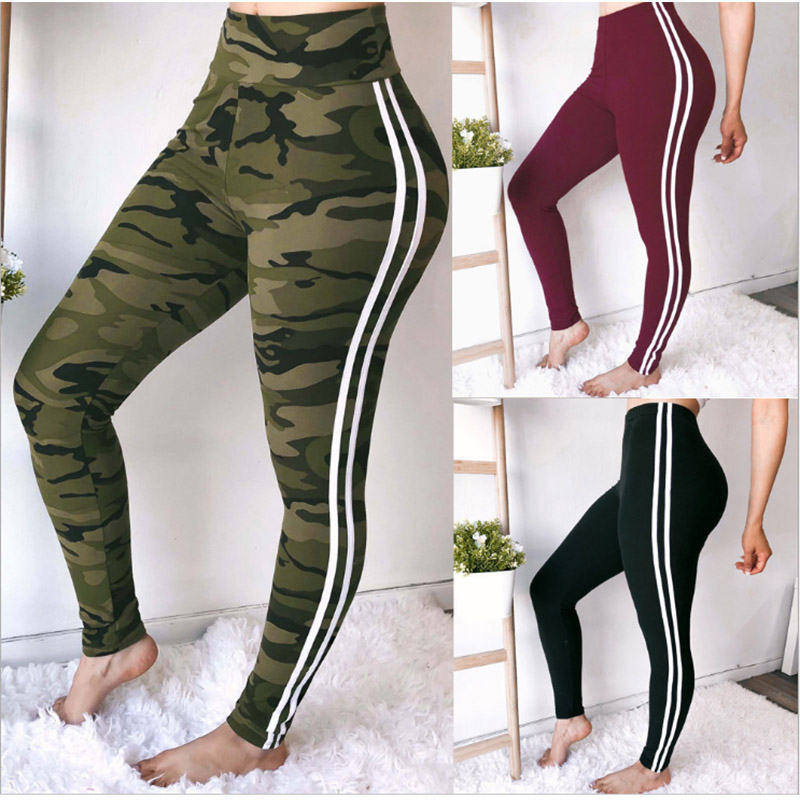 New Spring Warm Russian Style Camouflage Printing Leggings Punk Women Legging Stretchy Trousers Casual Pants Womens Leggings
