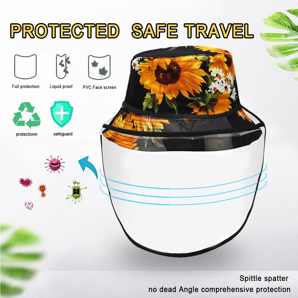 Bucket Hat Cap 2020 Women Lady Anti-spitting Protective Hat Dustproof Cover Cap Hat Adult Fisherman hats for women(China)