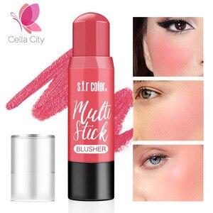 Cellacity, 6 цветов, румяна, макияж, персиковый цвет, для губ и щек, ТИНТ, румяна, наклейка, долговечная, Обнаженная, натуральная, женская косметика