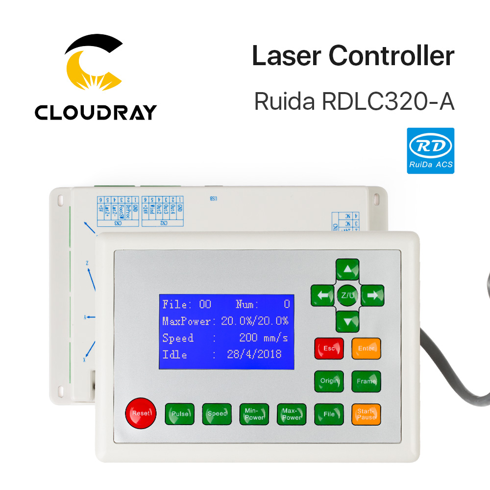 Cloudray Ruida RD RDLC320-A Co2 Laser DSP Controller For Laser Engraving And Cutting Machine RD320 320