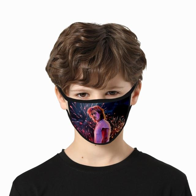 Stranger Things 3D Print Mask High Quality Harajuku Cosplay Washable Mask Hip Hop Streetwear Stranger Things Face Mask 2