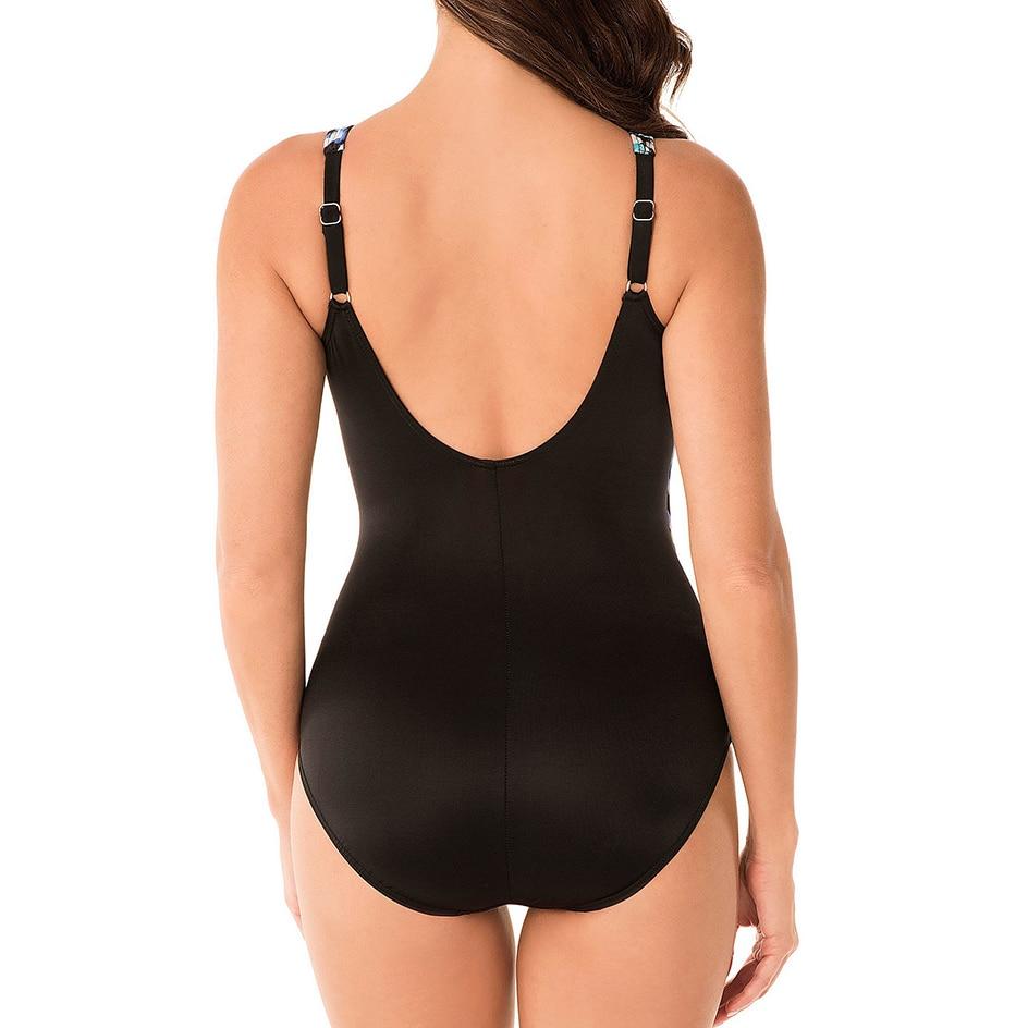 2020 Sexy Plus Size Swimsuit Women One Piece Swimwear Female Vintage Push up Swimming for Monokini Large Size Bathing Suit M-4XL 3