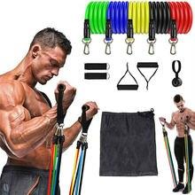 Эспандеры для фитнеса 11 шт/компл эластичные ленты кроссфита