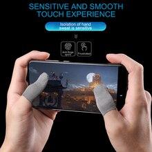 1 par de protectores de dedos transpirables para juegos, antisudor, antiarañazos, manga sensible, pantalla táctil móvil de nailon