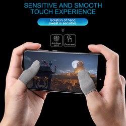 1 para oddychający kontroler do gier osłona palca odporny na pot Fingerstall odporny na zarysowania rękaw nylonowy mobilny ekran dotykowy|Rękawice do ekranów dotykowych|   -