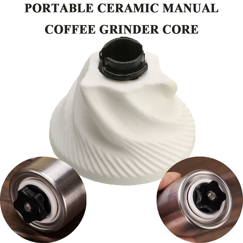Portable Ceramic Burr Manual Grinding Coffee Grinder Core For Home Office Adjustable Hand Crank Bean Pepper Mill Kitchen Tools